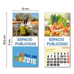 Calendario con imán 12x25