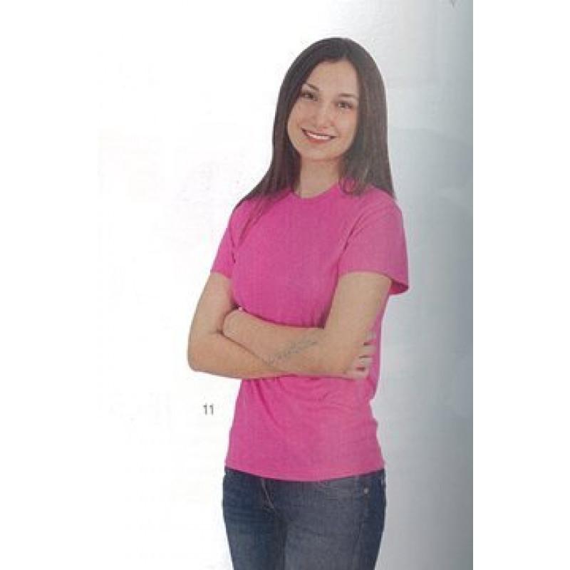 Camiseta mujer Manga Corta 100% Poliester.Transpirable