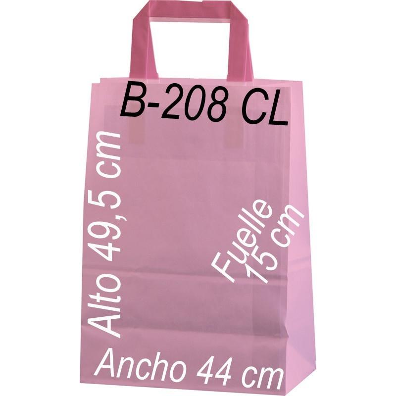 Bolsa Multiusos papel celulosa 100 grs. con ASA PLANA Tamaño: Ancho (44 cm) + Fuelle (15 cm) x Alto (49,5 cm)