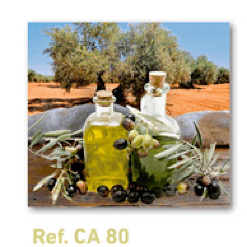 Calendario con imán para nevera aceite de oliva