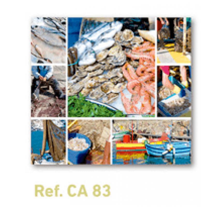 Calendario con imán para nevera pescaderías