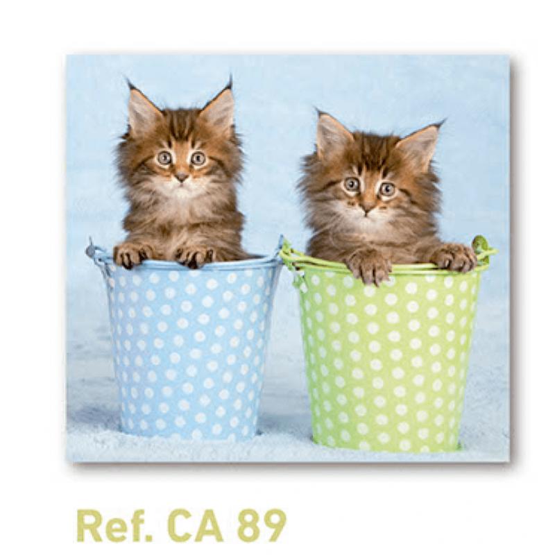 Calendario con imán para nevera gatitos