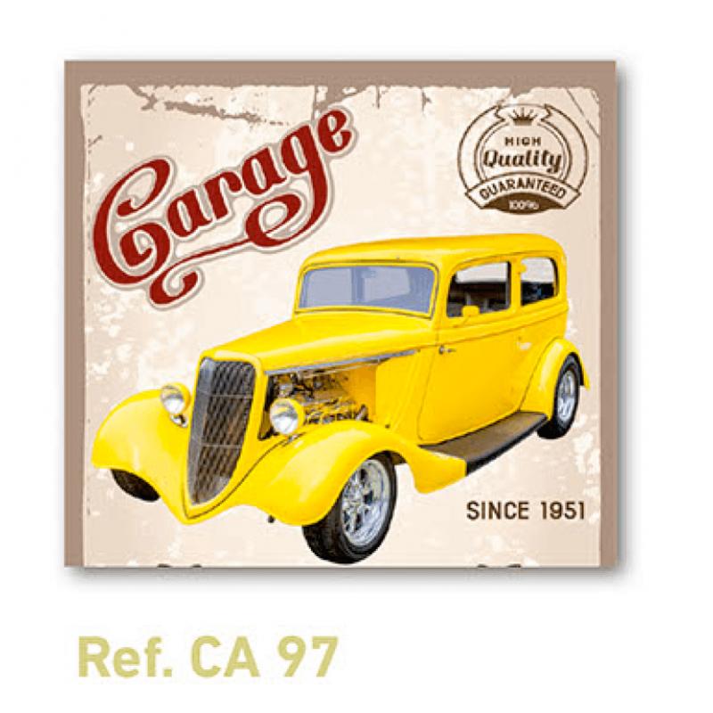 Calendario con imán para nevera coche vintage