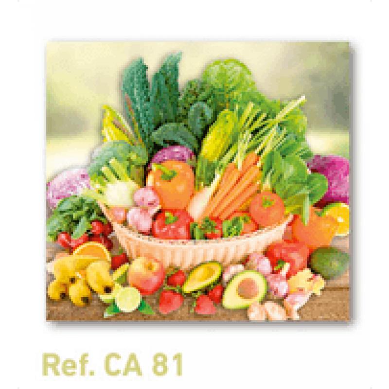Calendario con imán para nevera bodegón frutas y verduras