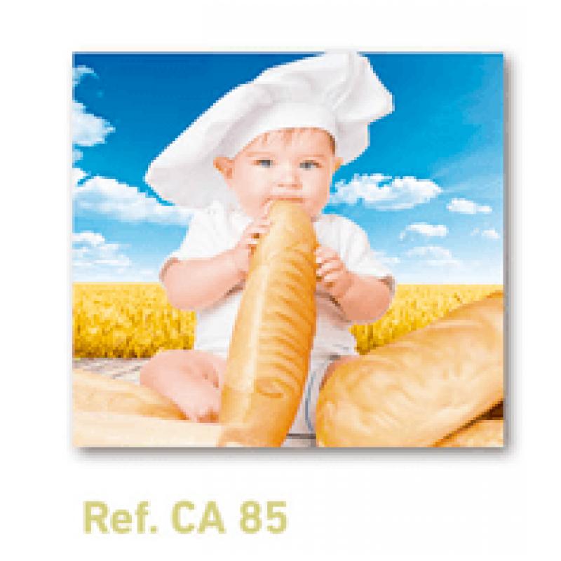 Calendario con imán para nevera panadería