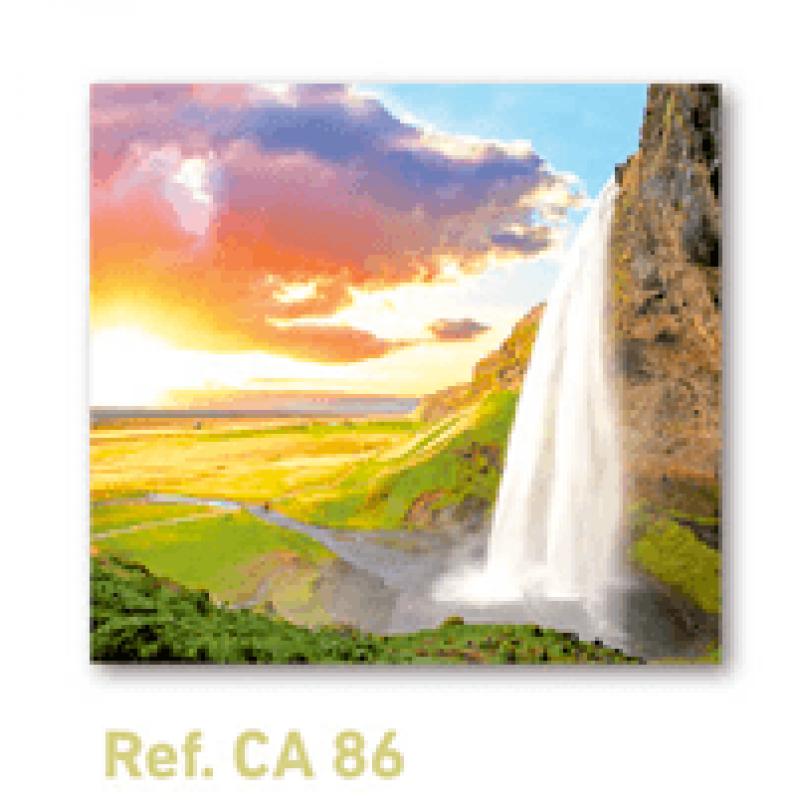Calendario con imán para nevera paisaje cascada