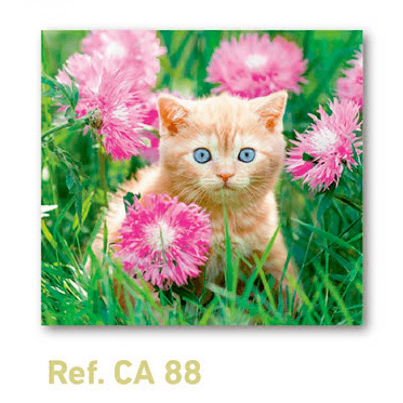 Calendario con imán para nevera gatito