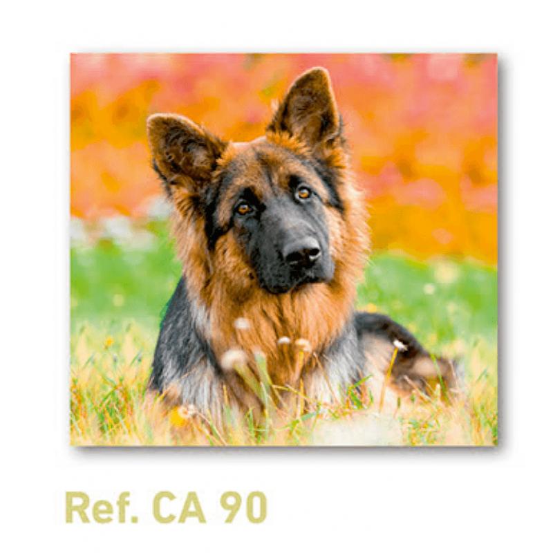 Calendario con imán para nevera perro pastor alemán