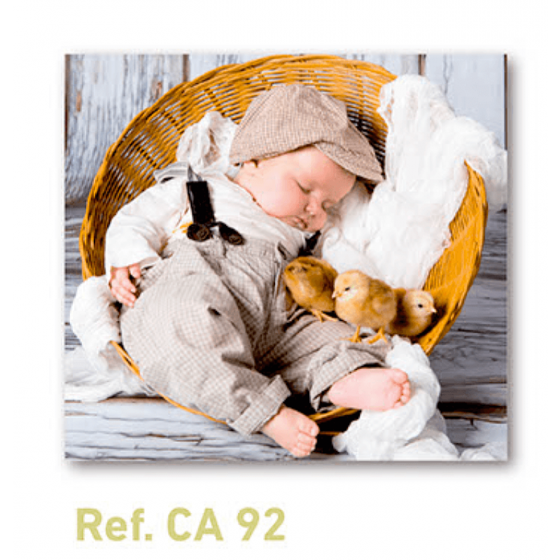 Calendario con imán para nevera con bebé durmiendo