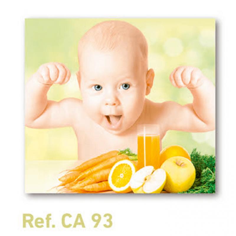Calendario con imán para nevera niño con verduras