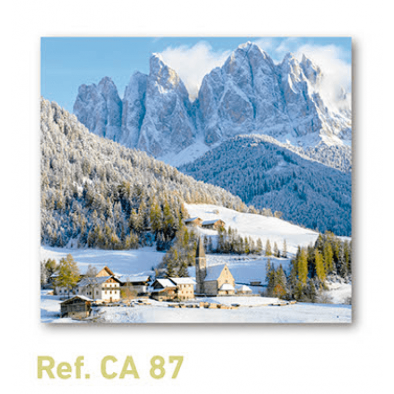 Calendario con imán para nevera paisaje nevado