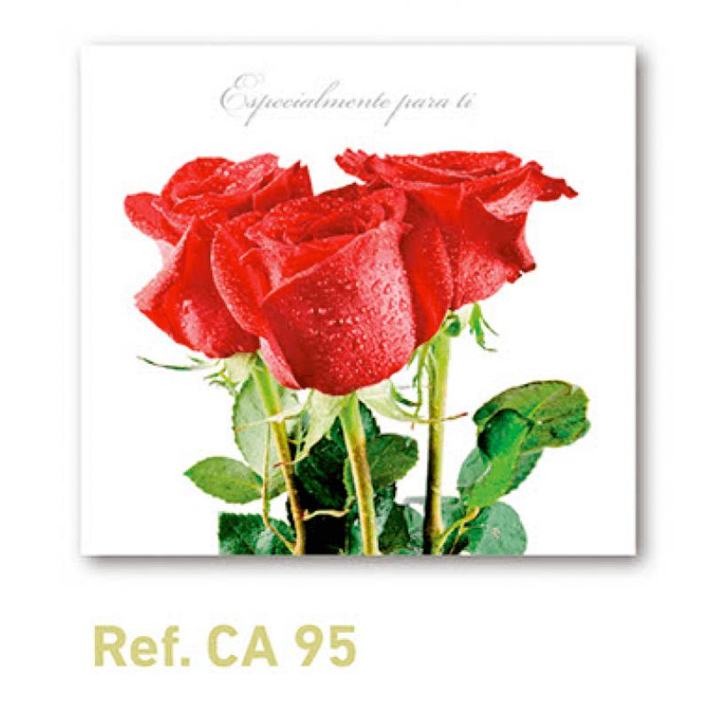 Calendario con imán para nevera rosas rojas