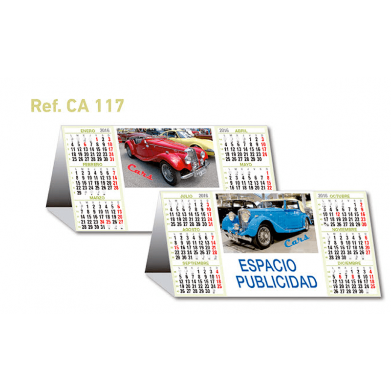 calendario sobremesa coches retro