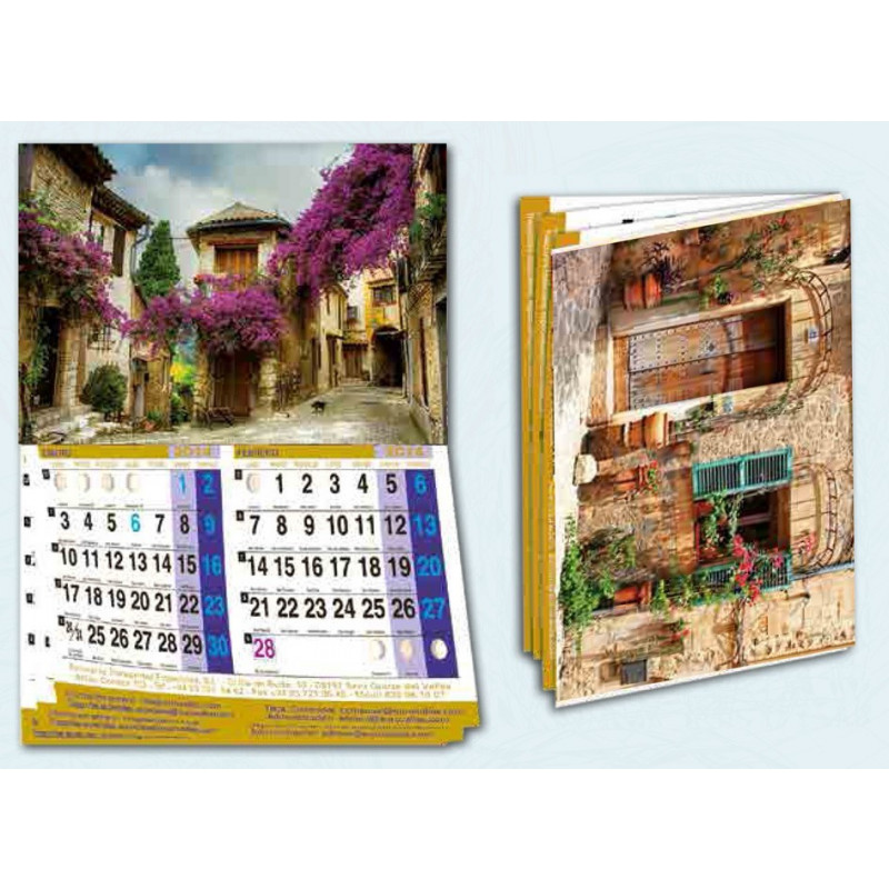 Calendario publicitario de pared revista