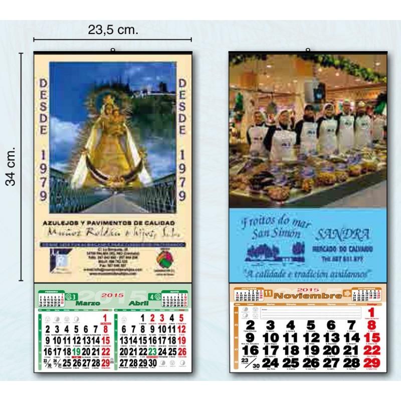 calendario de pared exclusivo 23 cm