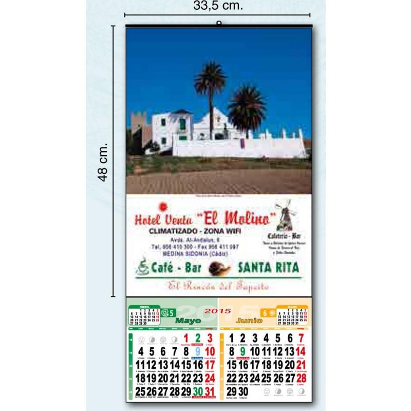 calendario de pared exclusivo 33 cm