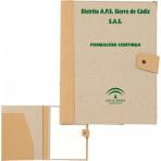 Carpeta Cartón reciclado natural.