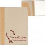 Carpeta Cartón reciclado natural lomo cuero