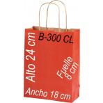 Bolsa papel Kraft 18x24 Asa retorcida fondo de color