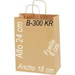 Bolsa papel Kraft 18x24 Asa retorcida kraft