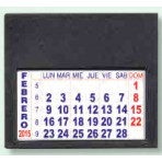 Mini calendario Adhesivo PVC