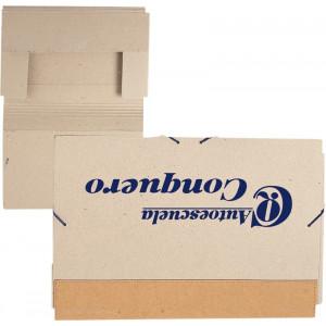 Carpeta gomillas cartón reciclado natural con solapas.