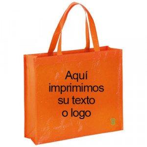 bolsa publicitaria reutilizable ancha 40x35x13 cm