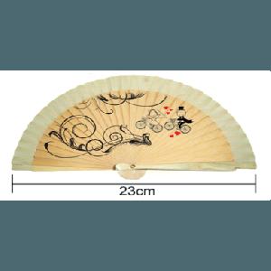 Abanico regalo especial de Primera Comunión todo de madera 23 cm