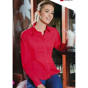 camisa laboral de mujer manga larga ligeramente entallada.
