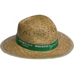 Sombrero de paja Modelo indiana oscuro.