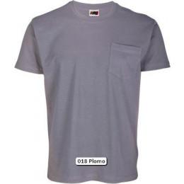 Camiseta con bolsillo Algodón Peinado
