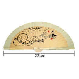 Abanico Religioso todo madera 23 cm
