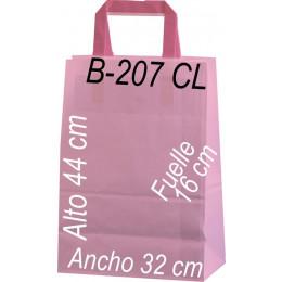 Bolsa papel celulosa 32x44 fondo de color Asa Plana