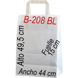 Bolsa papel celulosa blanco 44x49,5 Asa plana