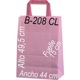 Bolsa papel celulosa 44 x 49,5  fondo de color Asa Plana