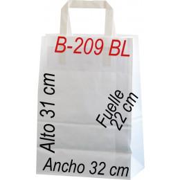 Bolsa papel celulosa blanco 32 x 31 Asa plana