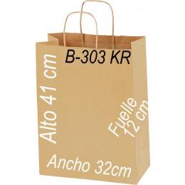 Bolsa papel Kraft 32x41 Asa Retorcida kraft