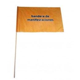 Bandera manifestacion con palo