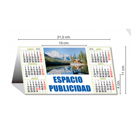 Calendario Sobremesa semestral 21x11