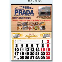 Calendario Cartoncillo mensual economic