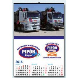 Calendario trimestral pared