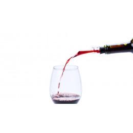 Pitorro botella vino transparente