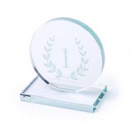Placa trofeo Cristal Circulo Personalizable