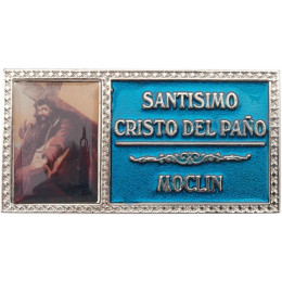 Placa con fotografía y texto fotograbado