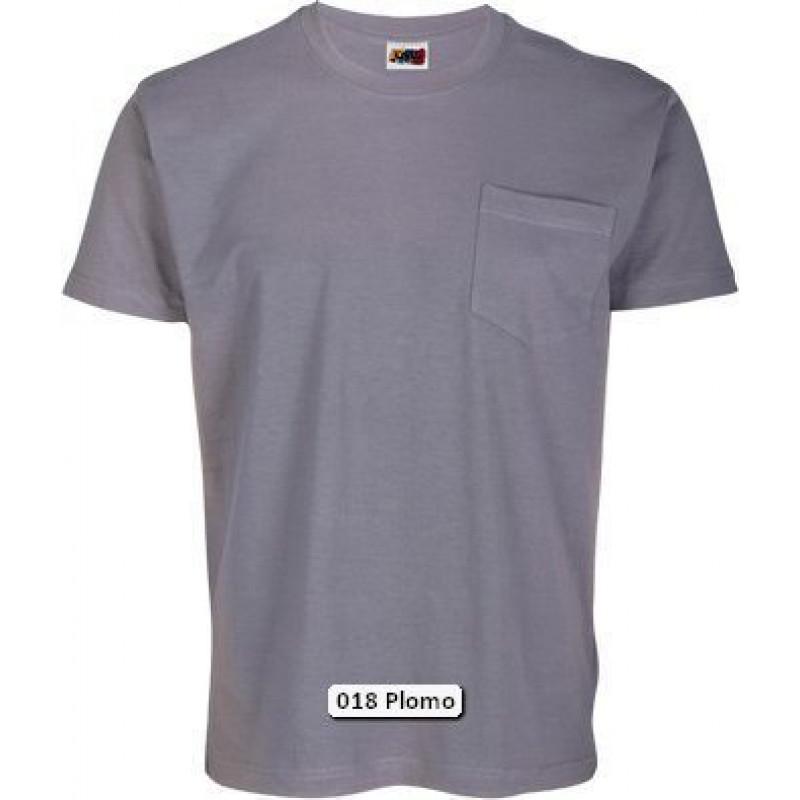 Camiseta Manga Corta 100% Algodón Peinado con bolsillo.