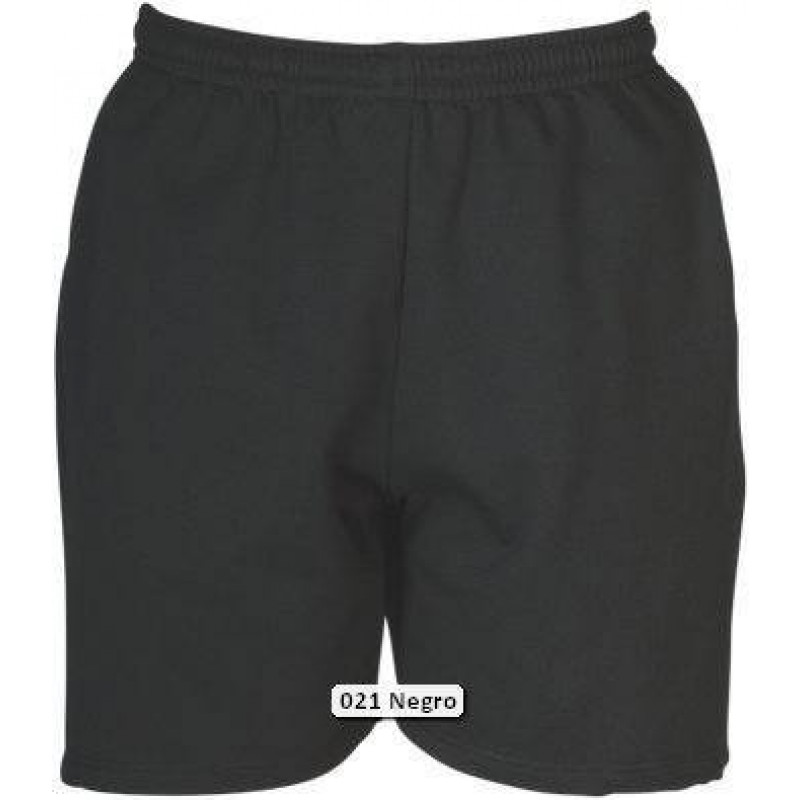 Pantalón Bermuda en tejido felpa granito sin perchar