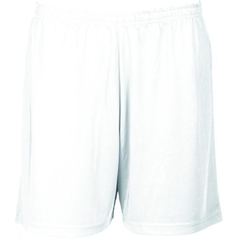 Pantalón Bermuda en tejido poliester punto liso 100% Poliester.
