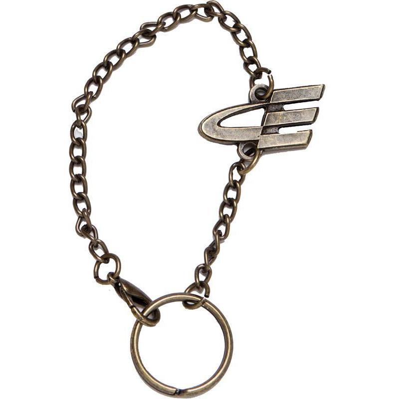 Llavero metálico cadena especial cinturón pieza fotograbada
