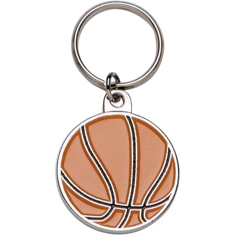 Llavero metálico balón baloncesto