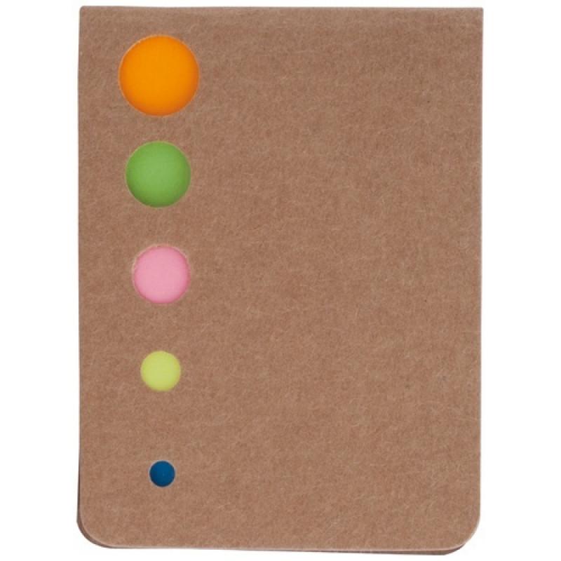 Bloc Notas Zinko.Portadas en Cartón reciclado.100 notas adhesivas